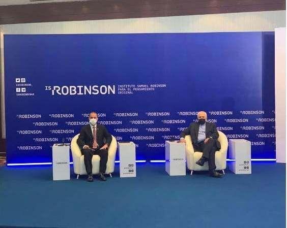 Zarif attends Iran-Venezuela joint session on Defense in New World