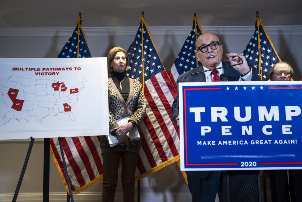 Giuliani claims allies of Venezuelan government manipulated ballots in latest push to overturn election results for Trump