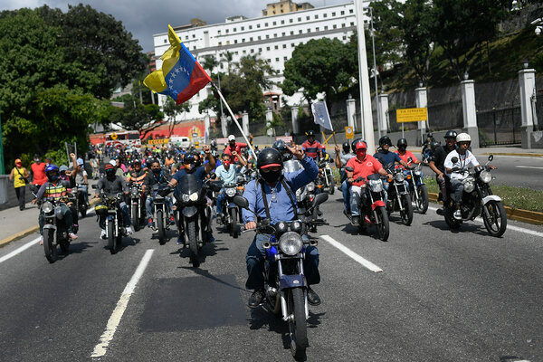 Supporters of President Nicolás Maduro of Venezuela this month in Caracas.