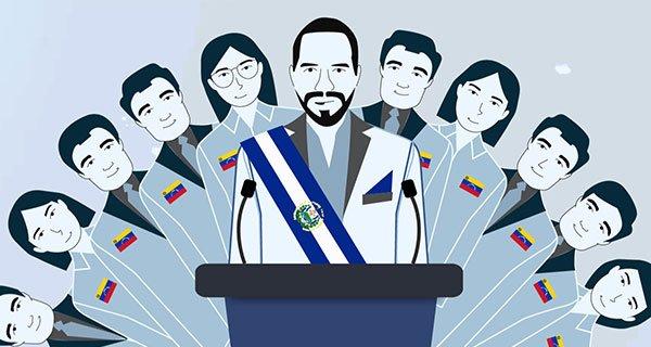 El gobierno de El Salvador incluye un gabinete a la sombra con pupilos de Leopoldo López