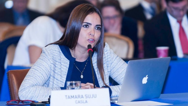 """""""¿Te crees a ti mismo?"""": El mensaje de Tamara Suju a Tarek William Saab sobre a su argumento ante la CPI (VIDEO)"""
