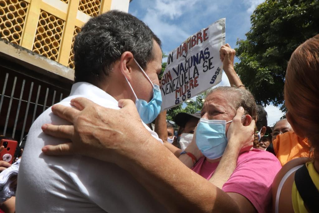 """""""Acuerdo de Salvación Nacional es la solución a la tragedia"""", afirmó Guaidó desde el corazón de Caracas"""